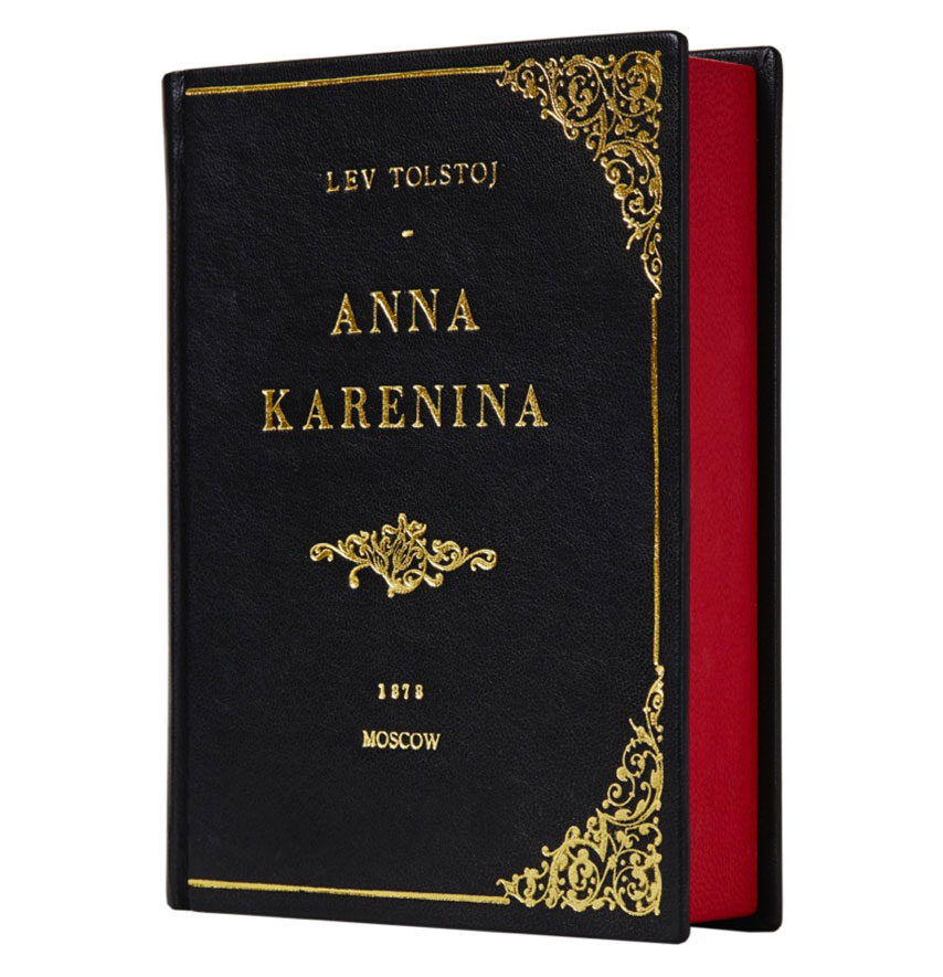 Side view for Anna Karenina By M Book Clutch #2